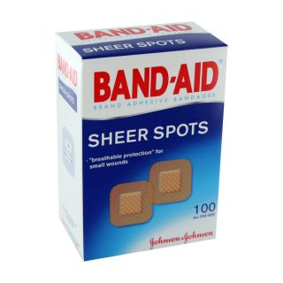 300 Band Aid Adhesive Bandages Sheer Spots All One Size