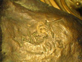 Antique Native American Indian Bronze Art Sculpture Statue Bust LG