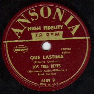Puerto Rico Los Tres Reyes 78 RPM Aviles Gilberto Puente