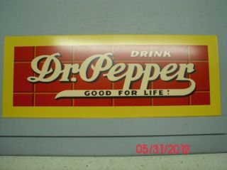 Antique DR. PEPPER Adv RED BRICK METAL PANEL / SIGN for Drink Box Old