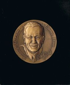 Disney Cast Member Walt Award 100 Years of Magic Holiday Medallion