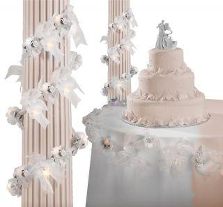Lighted Organza Rose Wedding Anniversary Church Reception Hall Garland