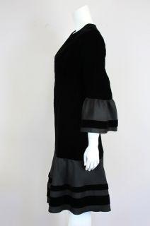Pierre Balmain at Socialite Auctions Vintage Black Velvet Ruffle Dress
