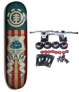 element skateboards bam tread complete skateboard 7 62 this complete