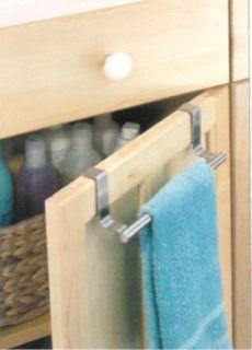 Over The Cabinet Door Towel Rack Bar Holder Bath Kitchen