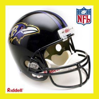 BALTIMORE RAVENS NFL DELUXE REPLICA FULL SIZE FOOTBALL HELMET by