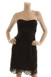 BCBG Max Azria Black Lace Sweetheart Dress New Size 8