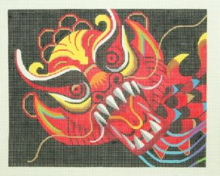Lee Leigh Design Dragon Exclusive Handpainted HP Needlepoint Canvas BF