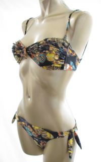 TIGERLILY Ladies New BUTTERFLY BANDEAU Bikini Size 14 RRP 199 95