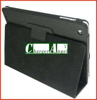 Black Slim Leather Folding Case Cover for Apple iPad 2