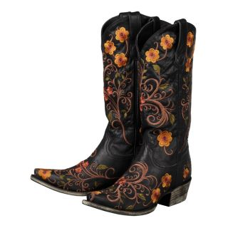 Lane Western Boots Womens Cowboy Darla Black Leather 44 B