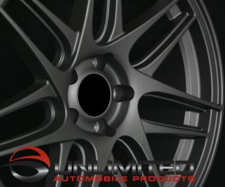 Style Matte Gunmetal Wheels Rims Fit Audi A4 B5 B6 B7 B8 A5 B8