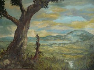 Brian Babinski Listed California Landscape Vintage Oil Painting