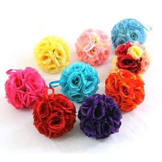 Silk Rose Wedding Flower Hanging Ball Decorations Floral Supplies
