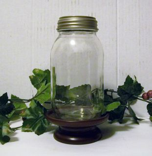 Ball Clear Glass Jar Art Mason Jar Solar Lid Light New