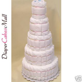 Baby Shower Undecorated 5 Tier Diaper Cake Baby Cake