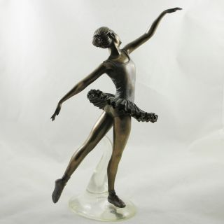 FEMALE Ballet Dancer FIGURINE Bronzed Art STATUE   Arabesque from