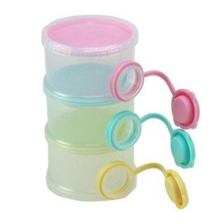 tiers baby feeding milk powder dispenser travel container storage bowl