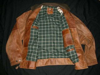 Leacher Leather Motorcycle Jacket Mens M Santa Barbara $450