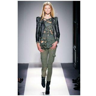 Balmain $4 705 Chain Insert Army Cargo Pants 40 F New Christophe