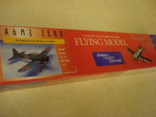 Dumas A6M3 Zero Balsa Wood Flying Model Airplane Kit Factory SEALED