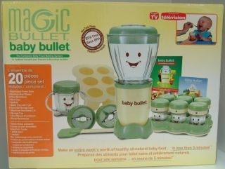 Magic Baby Bullet Food Making System as Seen on TV 20 Piece New in Box