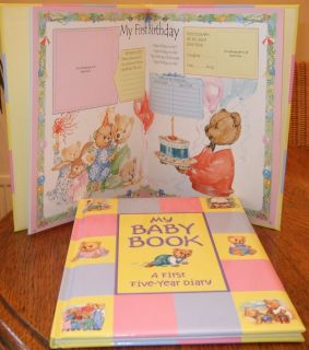 My Baby Book Five Year Diary Record Book Journal Note