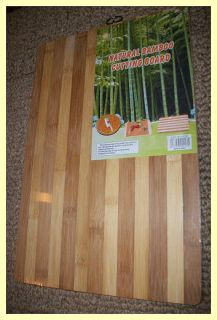Natural 2 Tone Bamboo Wood Cutting Board 15 x 10  with Ring Makes A