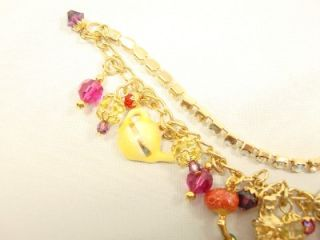 Vintage, from 1990s Disney couture, charm bracelet, never used.