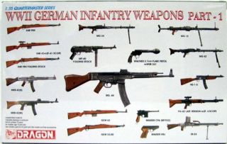 DRAGON  WWII German Infantry Weapons Part 1  135 Scale 3809