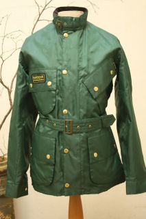 Barbour Mens International A7 Brass Jacket Jacket Racing Green RRP 179
