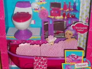 New Mattel Barbie Doll Bath to Beauty Bathroom Dollhouse Furniture