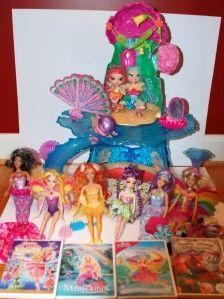 Huge Lot Barbie Mermaidia Fairytopia Dolls Mermaid Play Set Bibble and