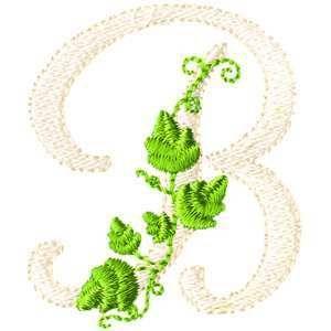 Brother Babylock Embroidery Machine Card Vine Alphabet