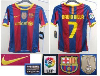 Barcelona Nike David Villa Kids Football Soccer Jersey Shirt Boys New