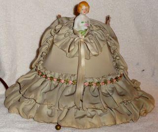 Vintage Antique Victorian Porcelain Lamp Light Victorian Bed Room