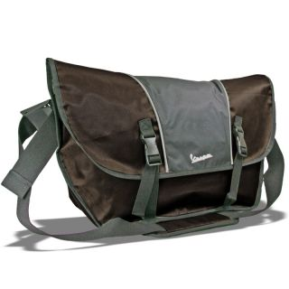 Vespa Scooter Two Tones Brown Shoulder Sling Messenger Bag Men Women