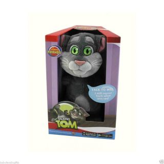 Cuddle Barn 11 Animated Talking Tom Cat Plush Toy Repeats Back What