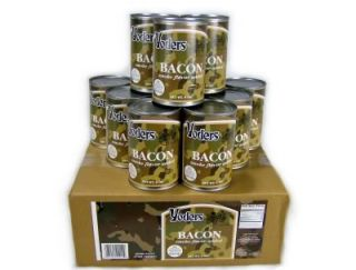 Case 6 Cans Yoders Canned Bacon Survival Emergency Food Storage 10