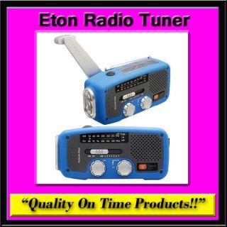New Eton Radio Tuner Solar Crank AM FM Weather Band Radio NOAA LED USB