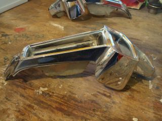 1966 PLYMOUTH VALIANT BARRACUDA LEFT TAIL LIGHT BEZEL HOUSING CUDA