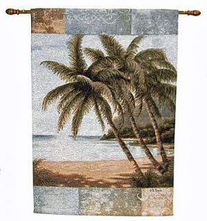Philip Bai Island Tropical Palms Tapestry Wall Hanging