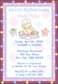 12 Personalized Baby Shower Invitations Moon Stars