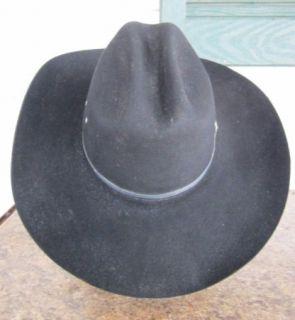 Good Mens Bailey Yuma Style Cowboy Western Hat Size 7 1/8 Black