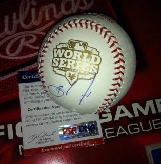 Barry Zito Signed 2012 World Series Baseball San Francisco Giants PSA