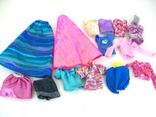 Big Lot of Barbie Doll Clothes Dresses Pants Shirts Skirts Coats
