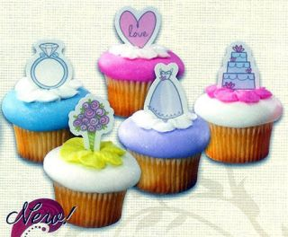 Picks Cake Toppers Bridal Shower Decorations Bakery Supplies 24