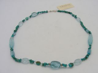 Barse Sterling Silver Turquoise Blue Topaz Necklace