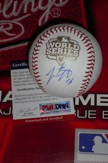 SIGNED 2012 WORLD SERIES BASEBALL, SAN FRANCISCO GIANTS, PSA/DNA