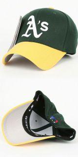 Oakland Athletics Flex Fit Baseball Cap Hat Two Tones